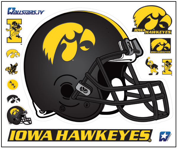 Iowa Football Helmet Real Big WallStar