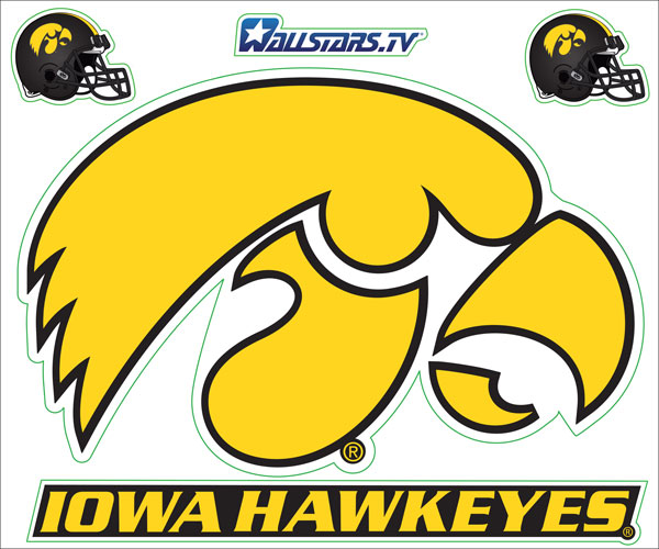 Junior WallStar - Iowa Hawkeyes Tigerhawk
